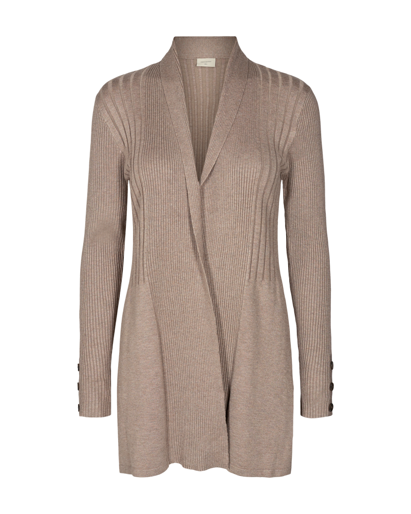 Claudisse Long Cardigan, Mocha Bisque