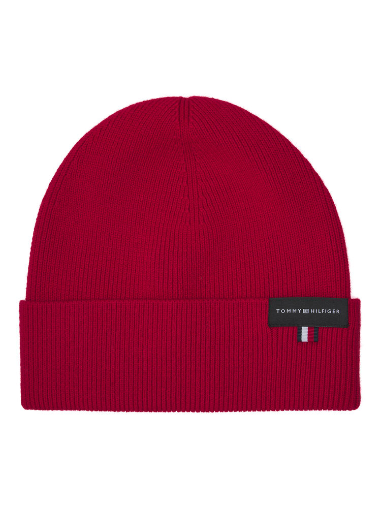 Uptown Wool Beanie, Primary red