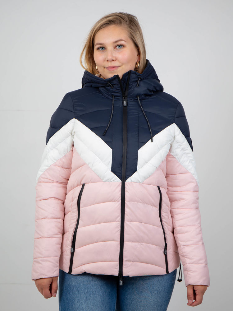 Color Blocked Eclipse Padded Jacket