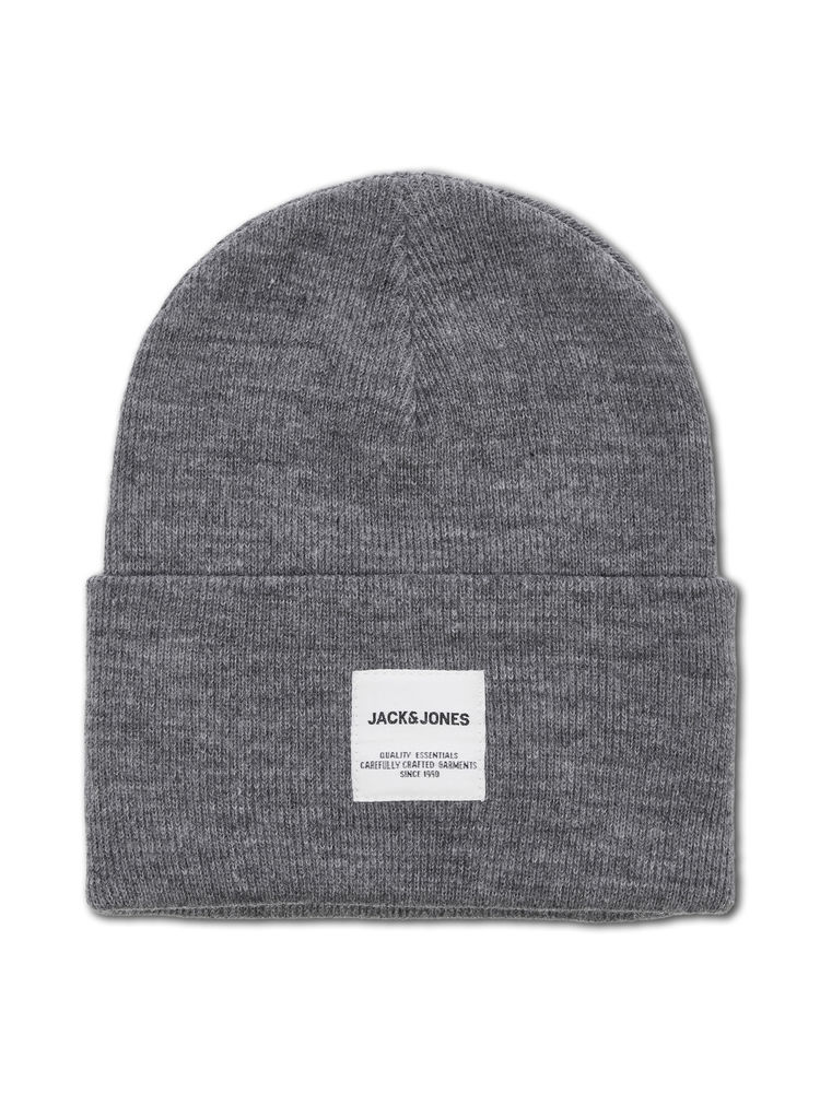 Long Knit Beanie, Grey