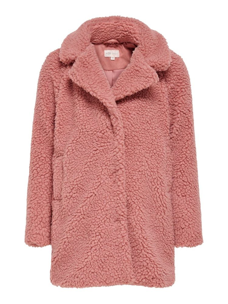 New Aurelia Sherpa Coat, Dusty Rose