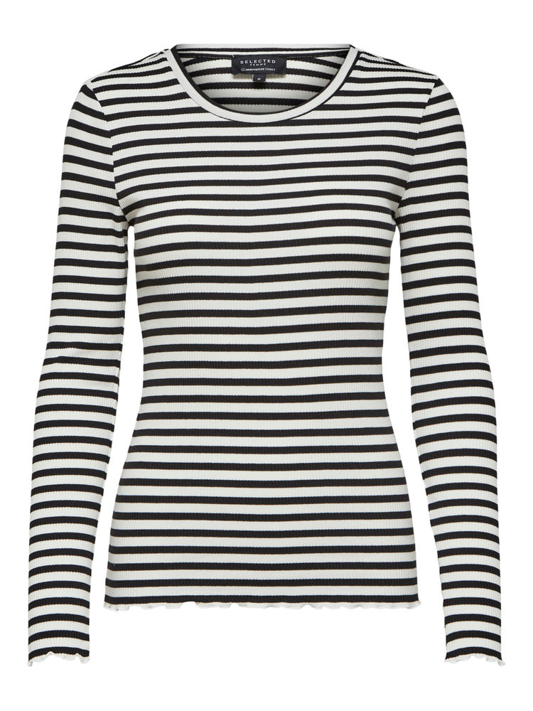Anna Crew Neck Teen, Black-White