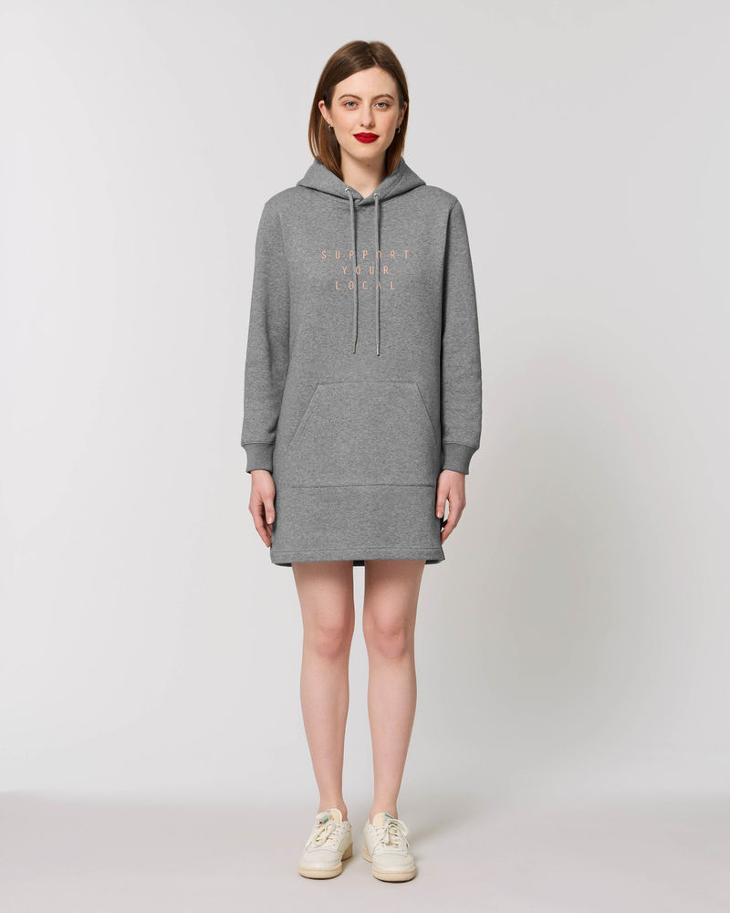 Hooded Dress, Grey