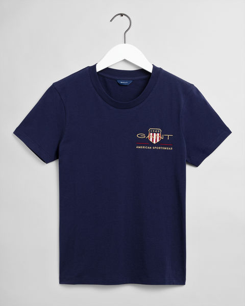 Archive Shield T-shirt, Evening Blue