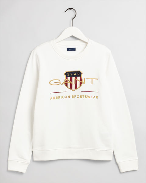 Archive Shield Sweater, White