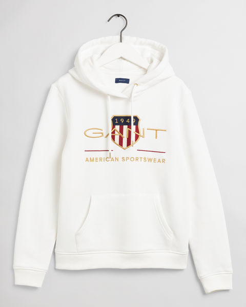 Archive Shield Sweat Hoodie, White