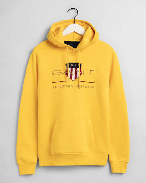 Archive Shield Hoodie, Yellow
