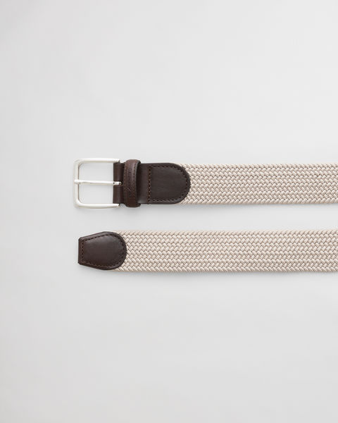 Elastic Braid Belt, Putty