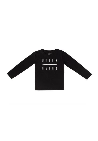 Kids Longsleeve Shirt, Black