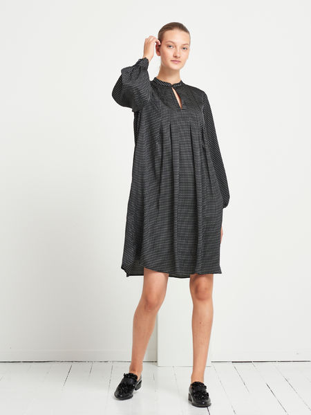 Acacia Arie Dress, Black AOP