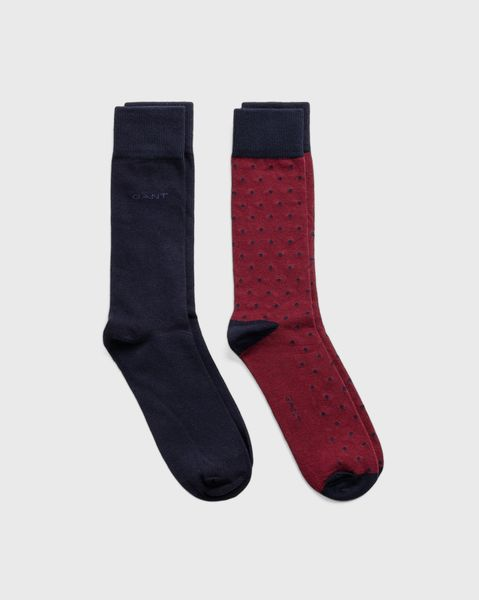 2-Pack Solid And Dots Socks