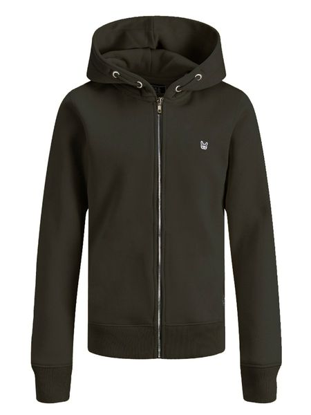 Soft Sweat Zip Hood, Black