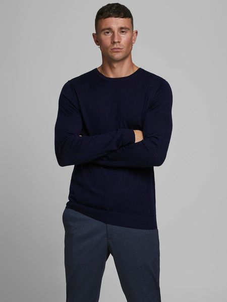 Mark Merino Knit Crew, Maritime Blue