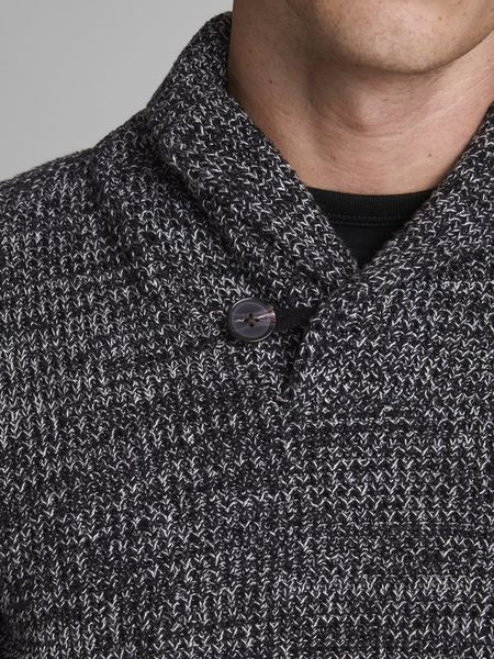 Vincent Shawl Neck Knit, Black