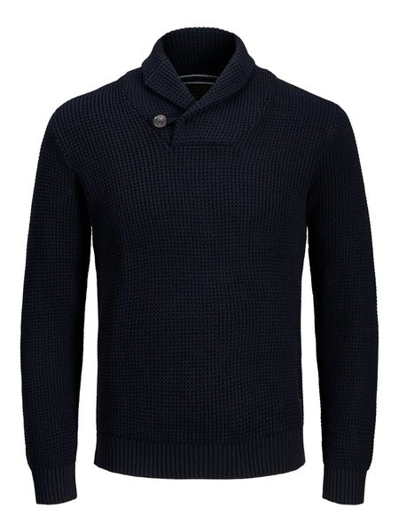 Vincent Shawl Neck Knit, Sky Captain