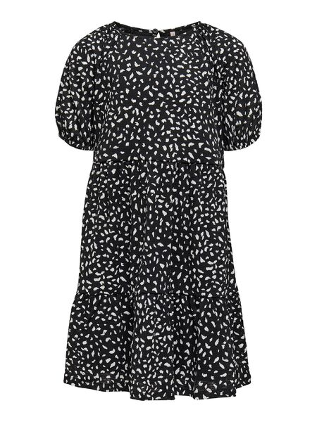 Pella 2/4 Dress, Black aop