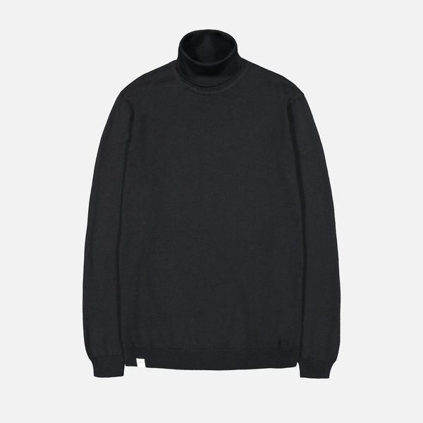 Roll Neck Knit, Black