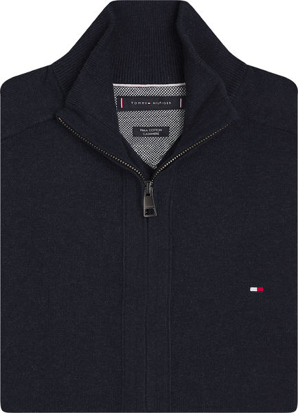 Pima Cotton Casmere Zip Trouch, Black
