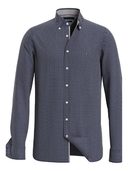 Slim Micro Twill Shirt,  Carbon Nvay