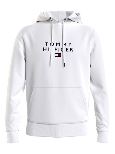 Stacked Tommt Flag Hoody, White