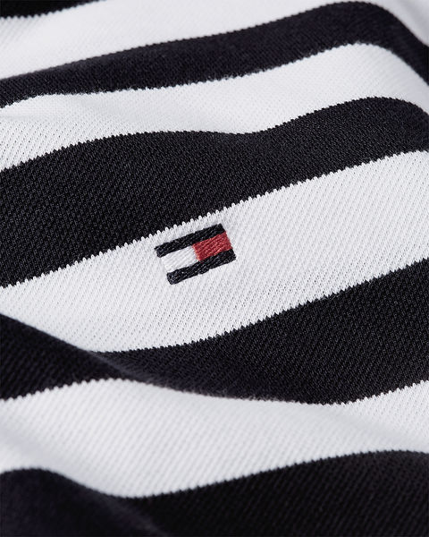 Stripe Regular Polo, Desert Sky-White