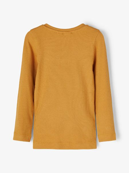 Dayed Slim Top, Spiced Yellow