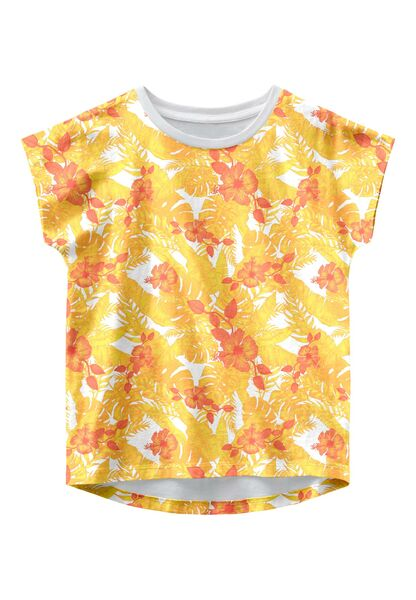 Vigga Capsleeve Top, Bright White Flowers