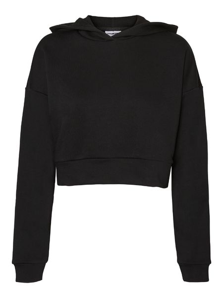 Lupa Crop Hood Sweat, Black