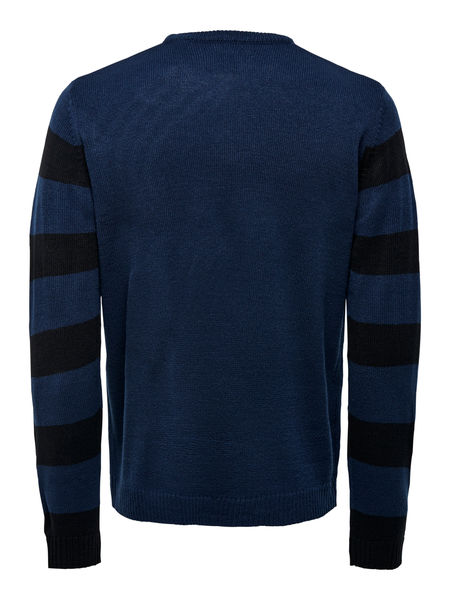 Xmas 7 Crew Knit, Dress Blues