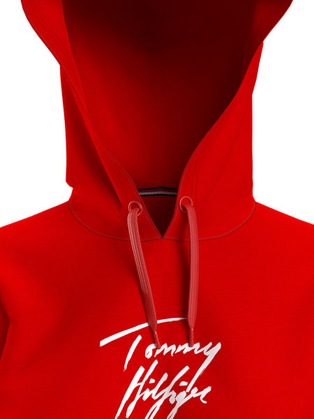 Signature Logo Hoodie, Primary Red
