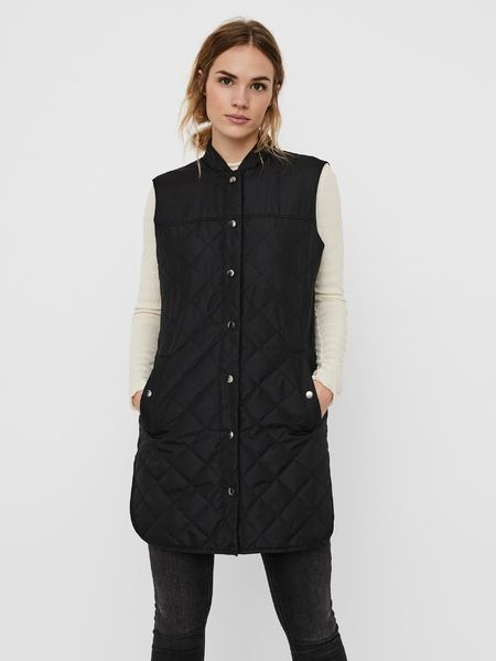 Simone Quilted Waistcoat, Black