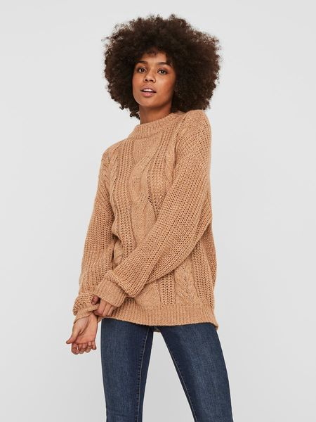 Malou Cable Knit, Tobacco Brown