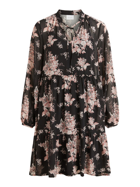 Tullan Flower Dress, Black