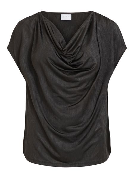 Snell Drape Neck Top, Black