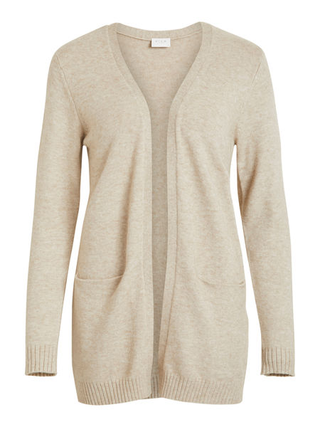 Ril Open Knit Cardigan, Natural