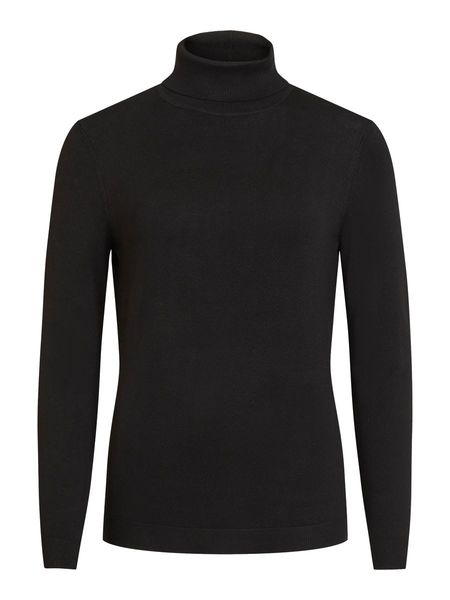 Bolonia Knit Rollneck, Black